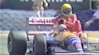 Mansell gives Senna a ride - 1991 British Grand Prix