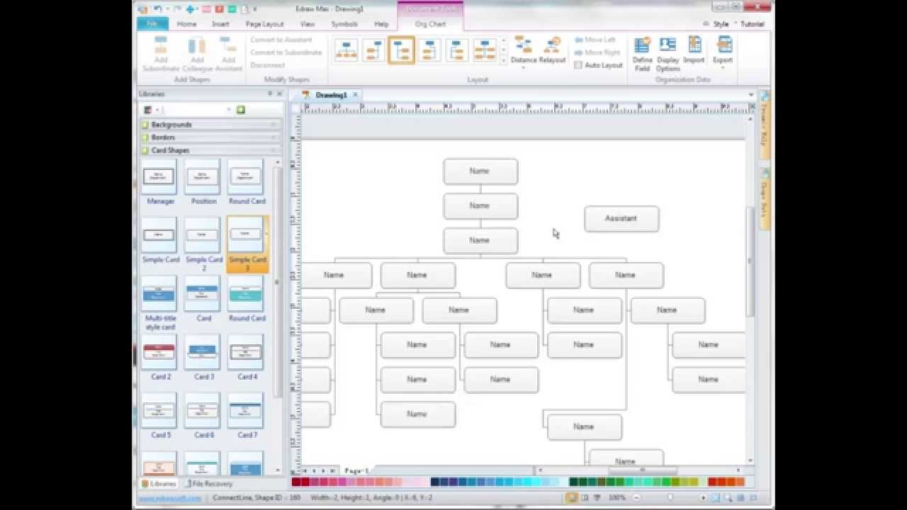 Create complex org chart with edraw max also youtube rh