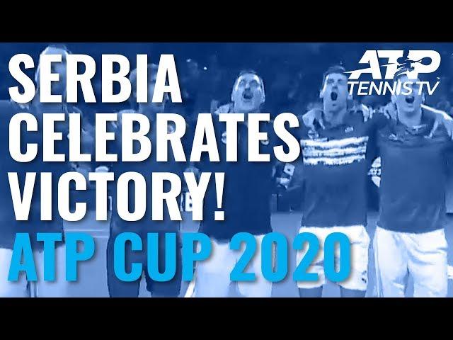 Serbia & Novak Djokovic Celebrations, Trophy Lift & Victory Speech! 🎉🇷🇸   2020 ATP Cup Finals