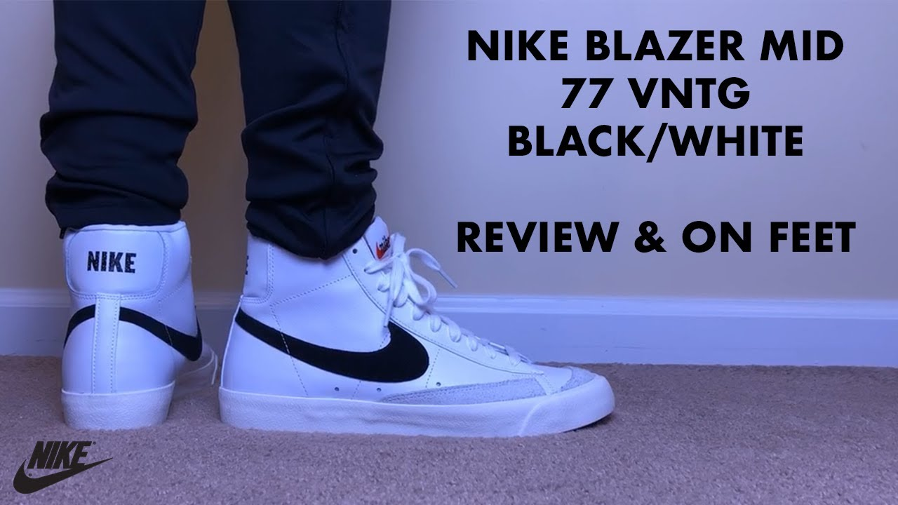 cheap better big discount Nike Blazer Mid 77 Vintage White and Black Review and On Feet