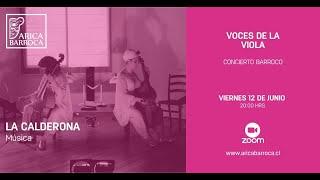 """Conciertos Barrocos - Compañía La Calderona, """"Las Voces de la Viola"""""""