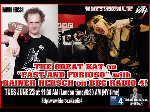 RAINER HERSCH INTERVIEWS THE GREAT KAT GUITAR/VIOLIN VIRTUOSO on BBC FAST AND FURIOSO-AIRING 6/23/15