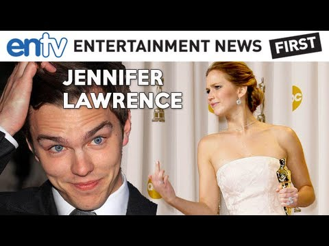 OSCARS 2013 Best Actress Jennifer Lawrence : Nicholas Hoult X-Men Interview, Win, Trip and Fall