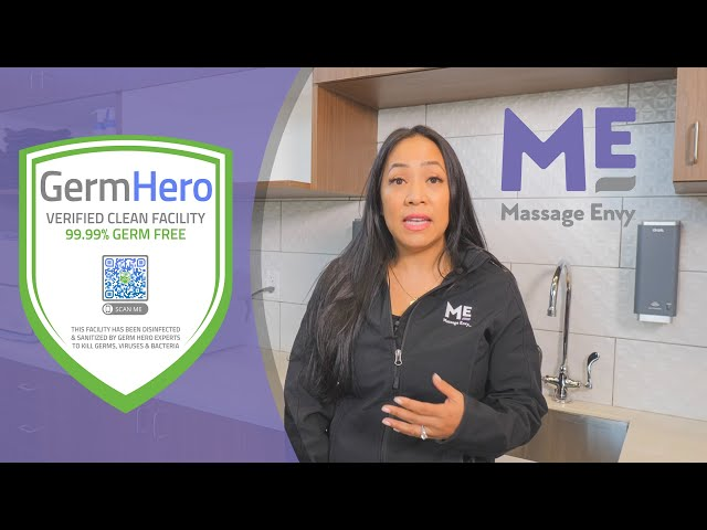 Massage Envy Trusts Germ Hero for Disinfection and Sanitizing