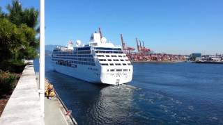 Pacific princess leaving Vancouver for Alaska