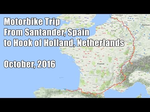 2016-10 - Motorbike Trip from Santander to Hook of Holland