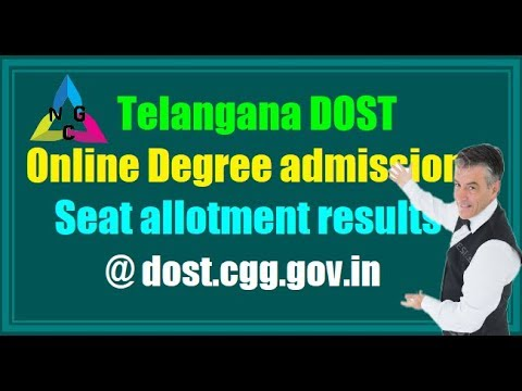 DOST 2018 Online Degree Admissions seats || Allotments Results || DOST 2018 Admissions ||