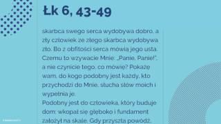 Ewangelia - 16 września 2017 - (Łk 6, 43-49)