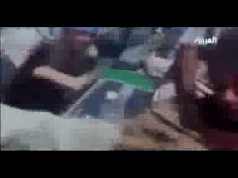اول فيديوة لاموت القذافي
