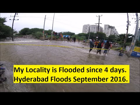 My Locality is Flooded since 4 days. Hyderabad Floods September 2016.
