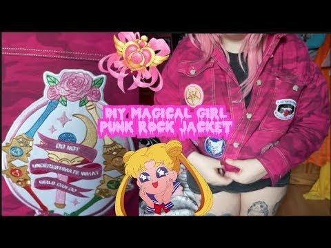DIY CUSTOM MAGICAL GIRL PUNK JACKET | StrawberriChan
