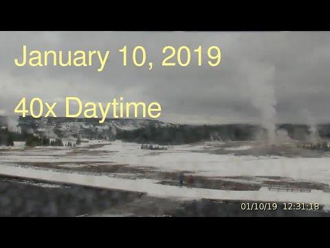 January 10, 2019 Upper Geyser Basin Daytime Streaming Camera Captures