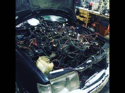 Мерс 124 и его новый двигатель.