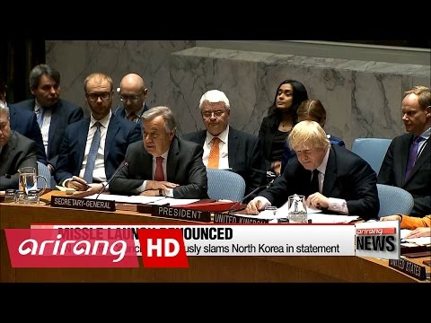 UN Security Council unanimously slams N. Korea over missile launch