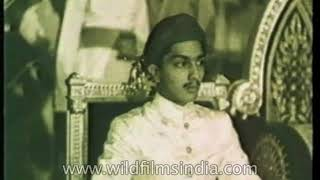 Princely States of India emerging together as Nation: Rare Footage