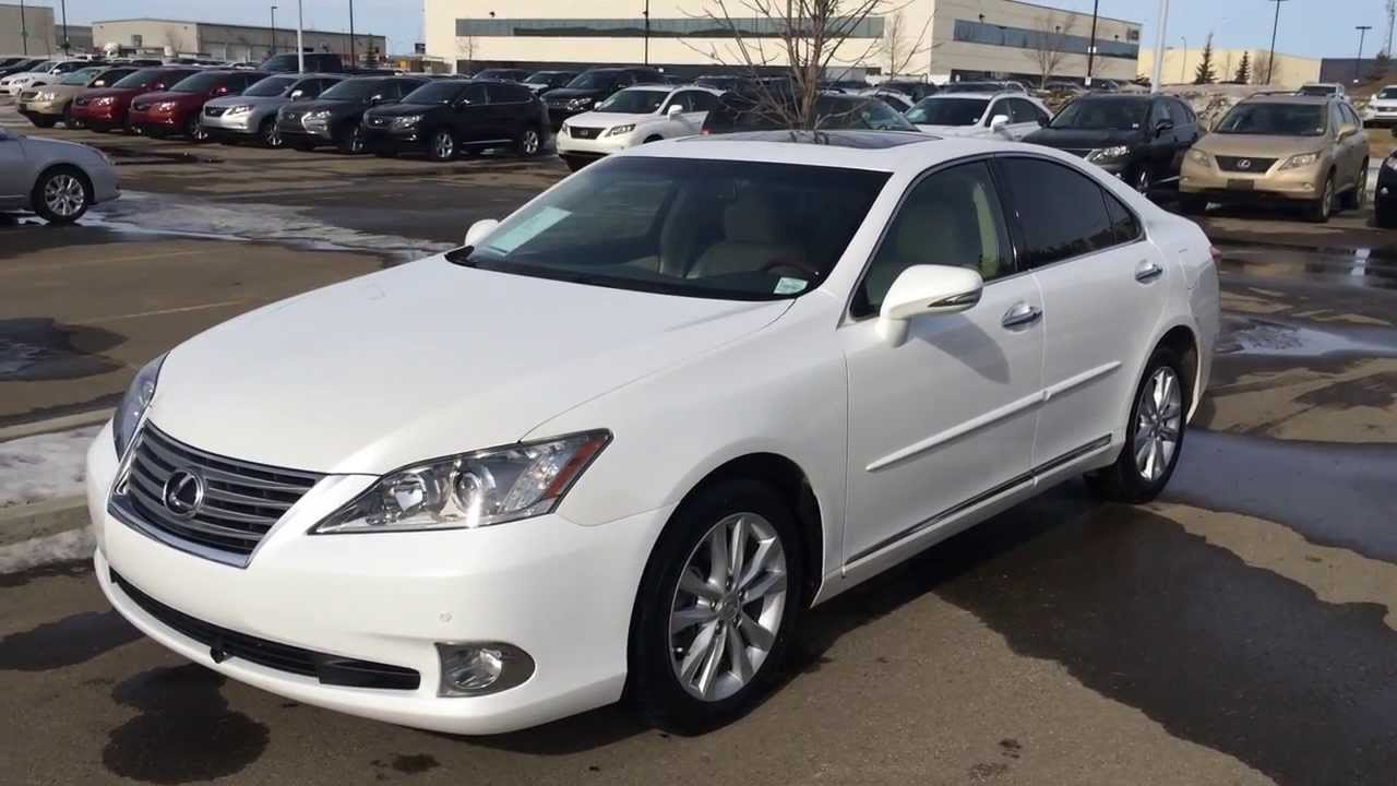 Amazing Lexus Certified Pre Owned White 2011 ES 350   Premium Package W/ Navigation    YouTube