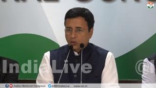 AICC Press Briefing By Randeep Singh Surjewala at Congress HQ