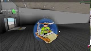 I got stuck at the lift in lifty office building in Roblox