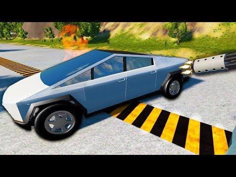 Is The Tesla Cybertruck Bullet Proof - BeamNG Drive