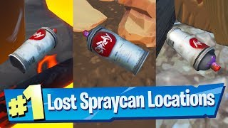 Find Lost Spraycans ALL 5 Locations - Fortnite (Spray & Pray) Challenge