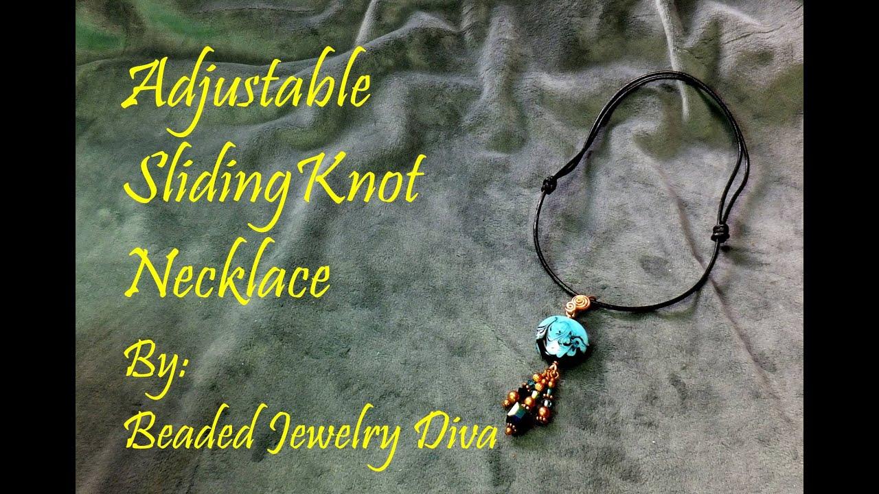Sliding knot tutorial how to make a sliding knot adjustable sliding knot tutorial how to make a sliding knot adjustable necklace baditri Image collections