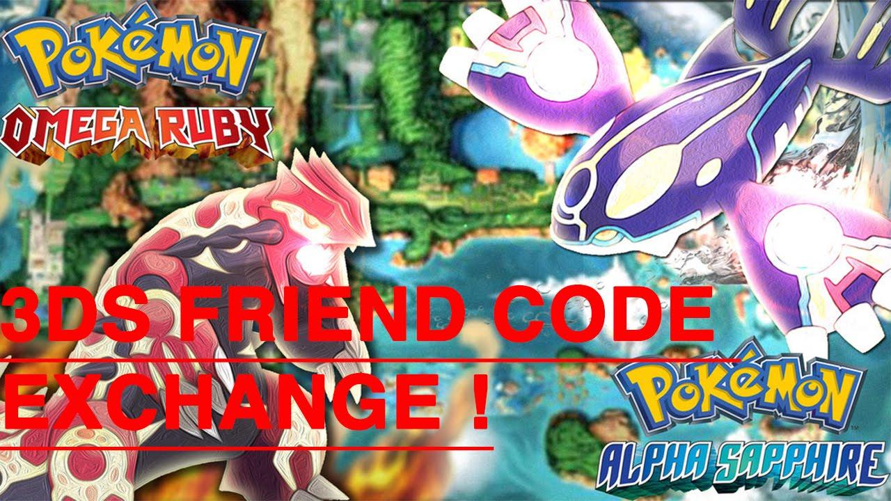 Pok 233 Mon Omega Ruby Alpha Saphire 3ds Friend Code