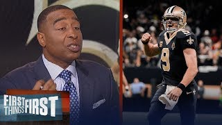 Cris Carter on Drew Brees' magic with Saints, Talks Rodgers missing Nelson | FIRST THINGS FIRST