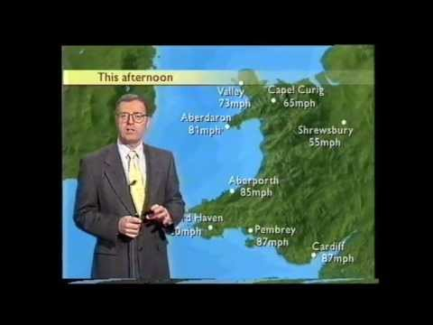 BBC Weather 4th January 1998: Severe Gales