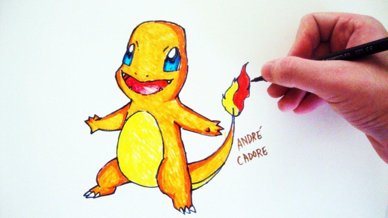 como desenhar um charmander pokémon how to draw charmander