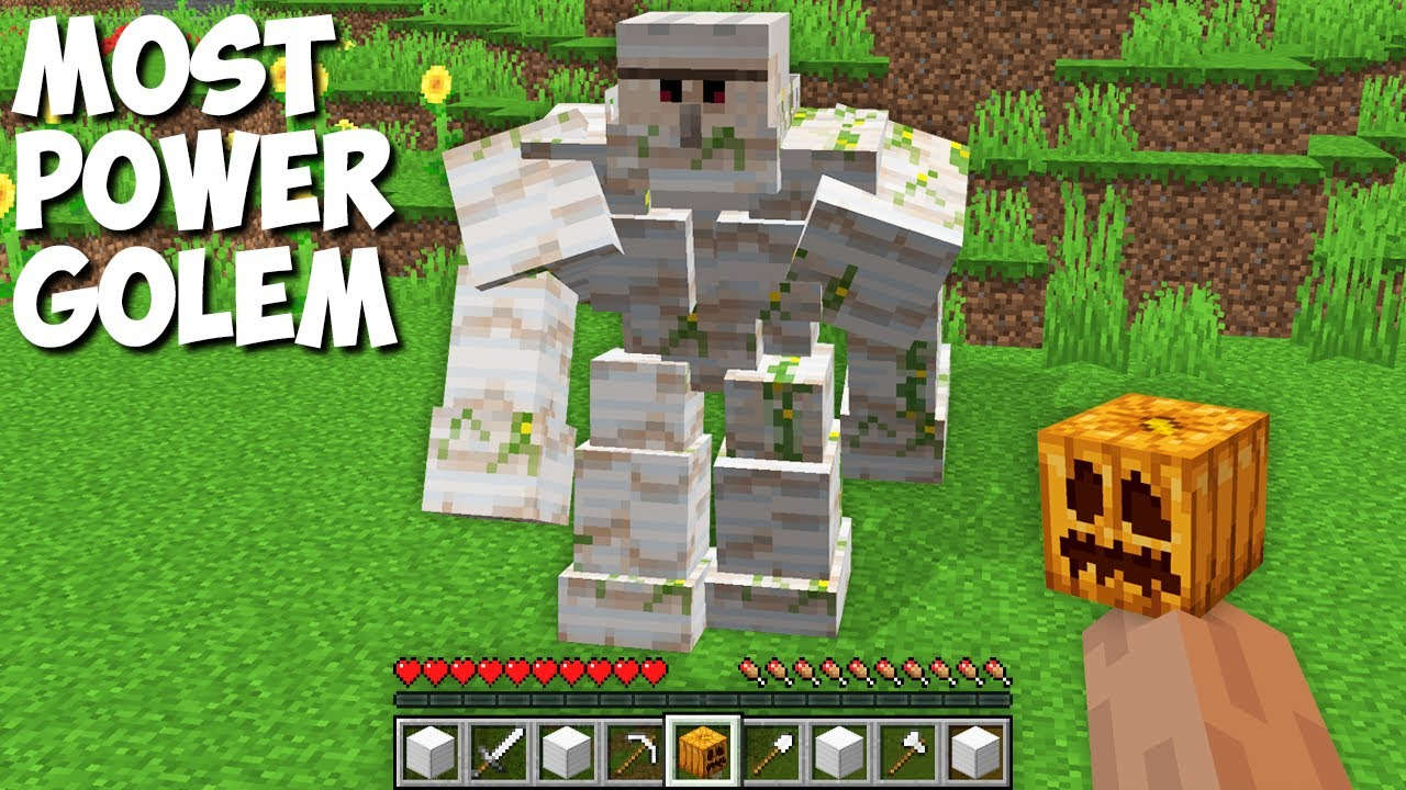 How to SPAWN POWERFULEST GOLEM in Minecraft ? BOSS OF THE GOLEMS !
