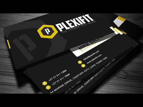"""How To Design A Company Business Card """" Plexifit Logo"""""""