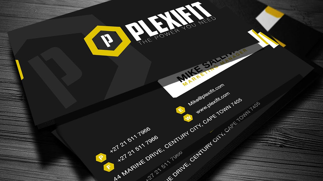 How to design a company business card plexifit logo youtube reheart