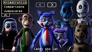 ALL REMASTERED ANIMATRONICS   EXTRAS    Five Nights at Candy's Remastered
