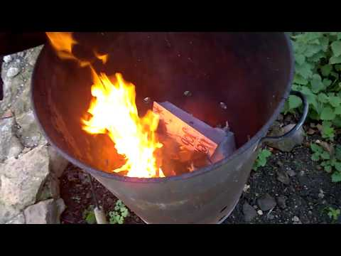 garden incinerator burning leaves and other personal mail .