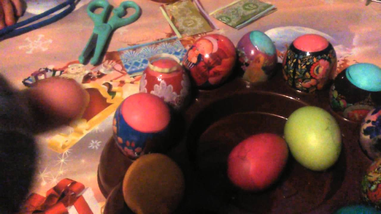 Этикетка для украшения пасхальных яиц