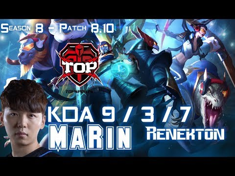 TOP MaRin RENEKTON vs AATROX Top - Patch 8.10 KR Ranked