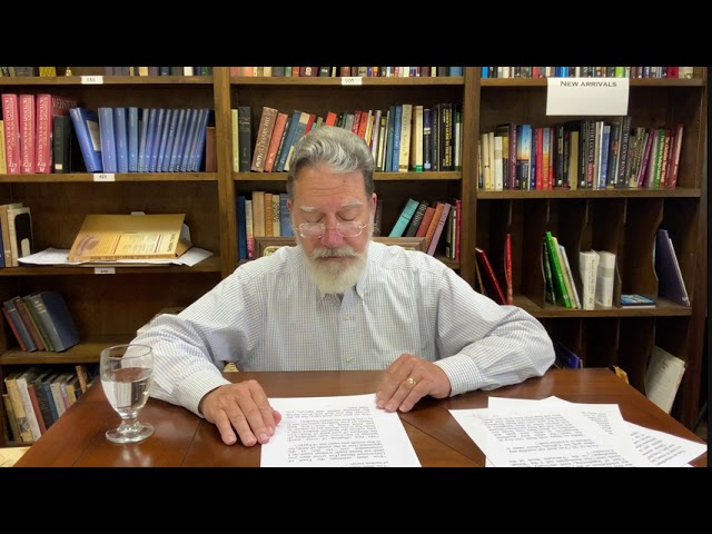 Bible Study with Bill Stahl - Week 23 The Ritual Decalogue