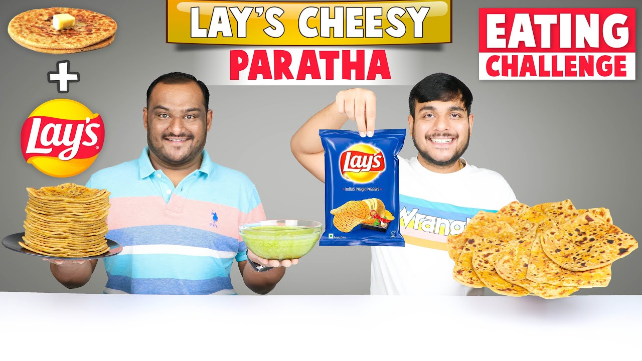 LAY'S CHIPS CHEESE PARATHA CHALLENGE | Paratha Eating Competition | Food Challenge | Viwa Food World
