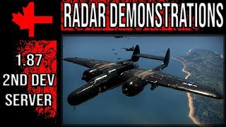 War Thunder 2 Dev Server - Update 1.87 - Radar Demonstrations