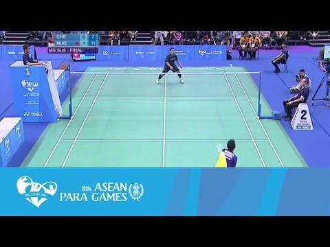 Badminton  Finals SU5  Indonesia Vs Malaysia (Day 5) | 8th ASEAN Para Games 2015
