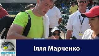 Illya Marchenko signs autographs at Hall of Fame Tennis Championships