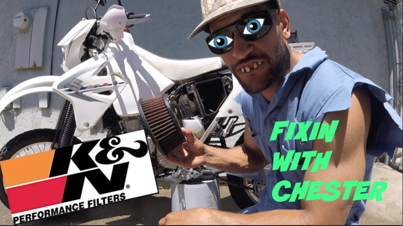 ||HOW TO CLEAN K&N AIR FILTER ON A DRZ400 HILLBILLY STYLE||