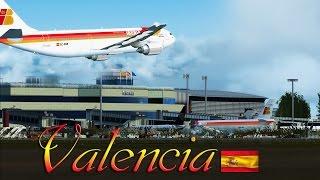 FSX [HD] - Iberia A300 | Valencia, Spain Approach