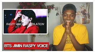 BTS JIMIN RASPY VOICE COMPILATION (REACTION) | Jayden Alexander
