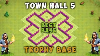 Clash of Clans - Best Town Hall 5 (TH5) Trophy Base - 2015