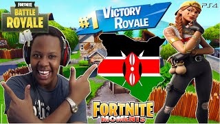 RACE TO GET A FORTNITE VICTORY ROYALE IN KENYA!!!