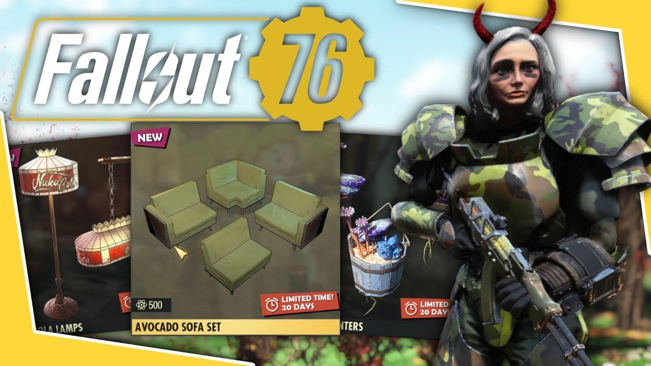 Download Fallout 76 - Atomic Shop Update: Sofa Set, Nuka Cola Lamps & More!