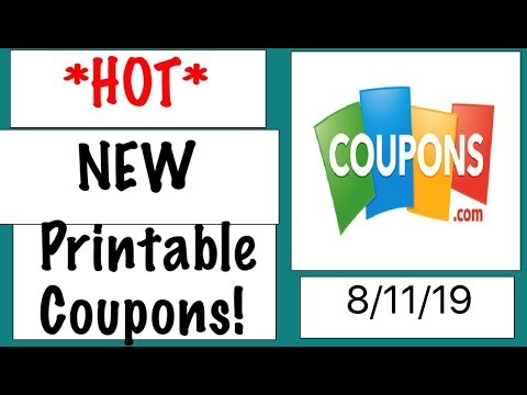 *HOT* New Printable Coupons!- 8/11/19