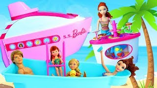 Barbie Cruise Ship Toy Review 2010 Water Slide & Doll Restaurant Inside The Boat