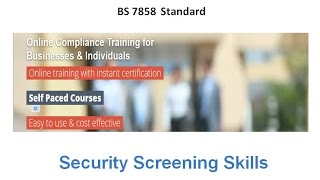 BS 7858 Employee Security Screening Introduction